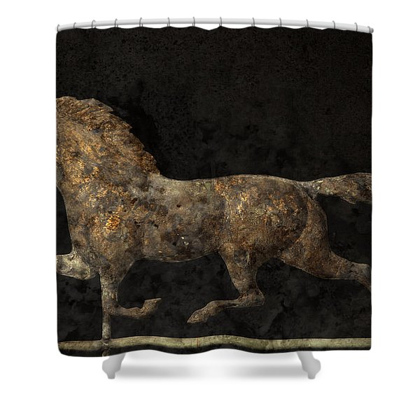 Grungy Antique Weathervane Shower Curtain by John Stephens