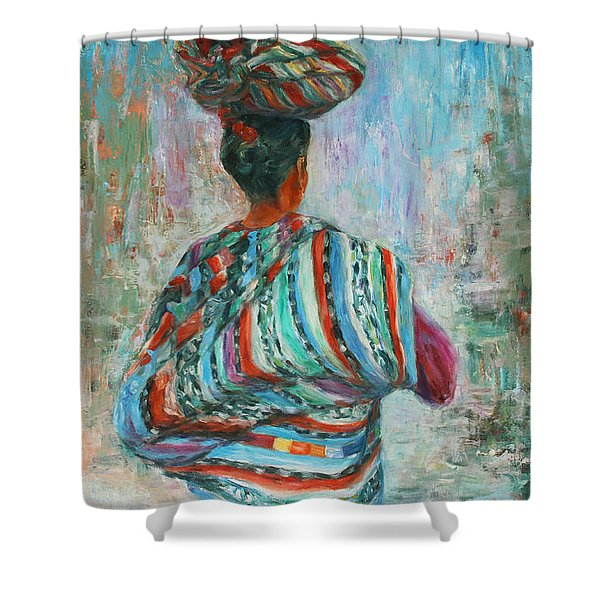 Guatemala Impression I Shower Curtain by Xueling Zou