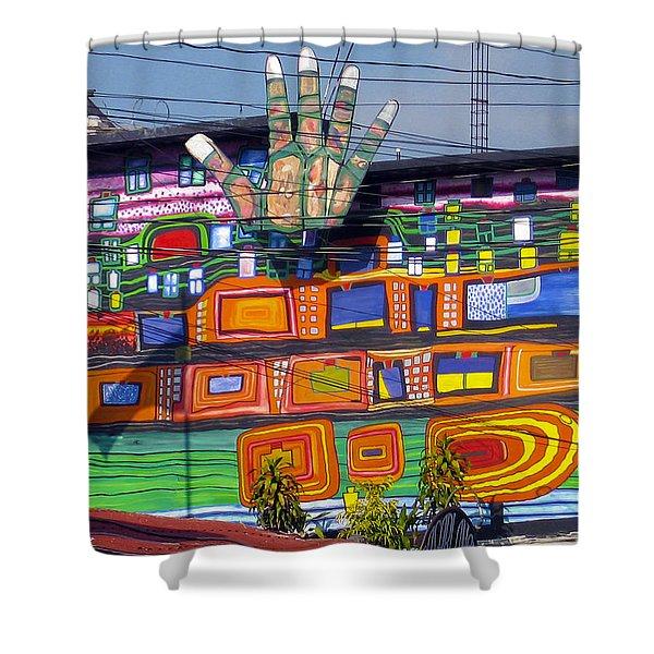 Guatemala Street Art 1 Shower Curtain by Kurt Van Wagner