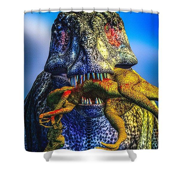 Guilty Pleasure Shower Curtain by Bob Orsillo
