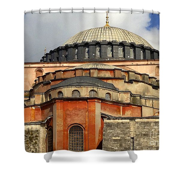 Hagia Sophia Ayasofya Meydani Byzantine Basilica Later Imperial Mosque Istanbul Turkey Shower Curtain by Ralph A  Ledergerber-Photography