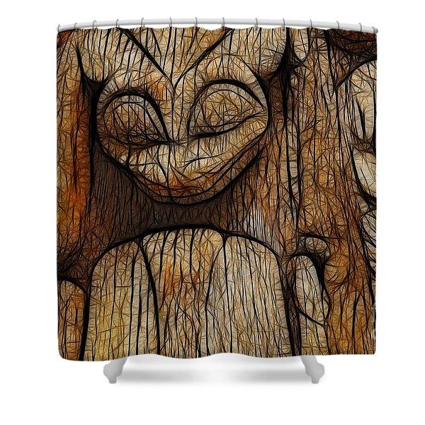 Haida Totem Shower Curtain by Bob Christopher