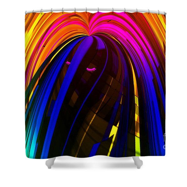 Hair Shower Curtain by Cheryl Young