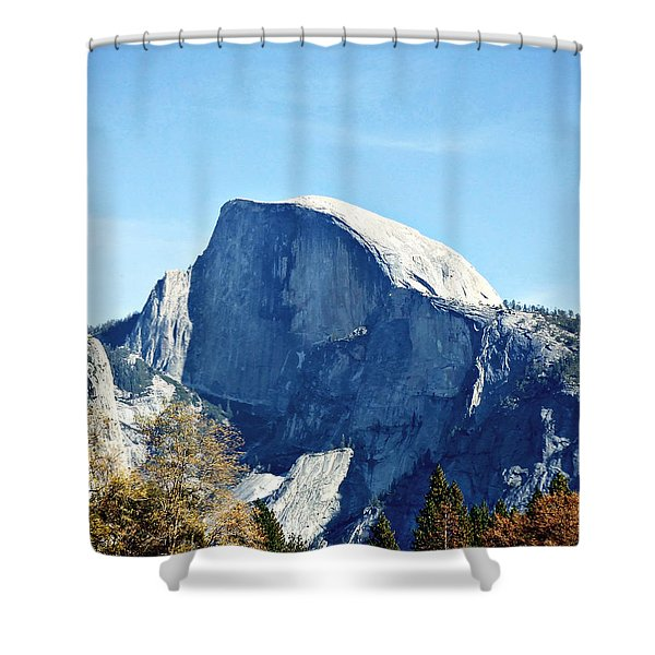 Half Dome Shower Curtain by Richard Reeve