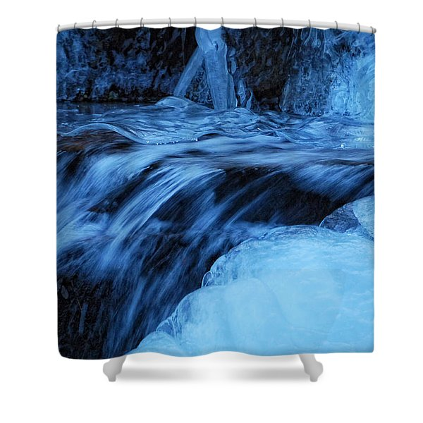 Half Frozen Shower Curtain by Donna Blackhall