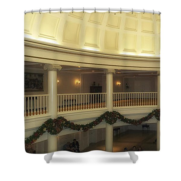 Hall Of Presidents Walt Disney World Panorama Shower Curtain by Thomas Woolworth
