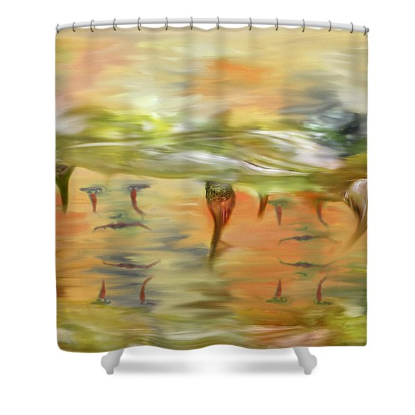 Halloween Clown Morning Tear Drops Reflection Shower Curtain by Angela A Stanton