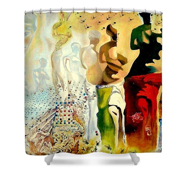 Halucinogenic Toreador by Salvador Dali Shower Curtain by Henryk Gorecki