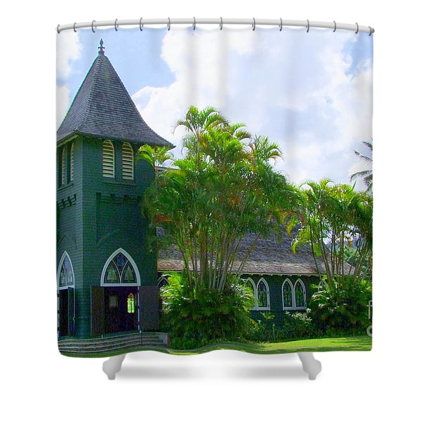 Hanalei Church Shower Curtain by Mary Deal