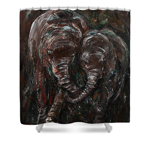 Hand in Hand Shower Curtain by Xueling Zou