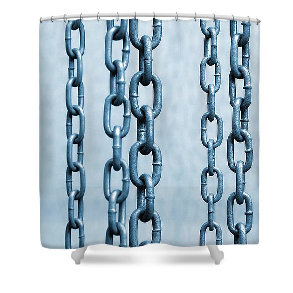 Hanged Chains Shower Curtain by Carlos Caetano