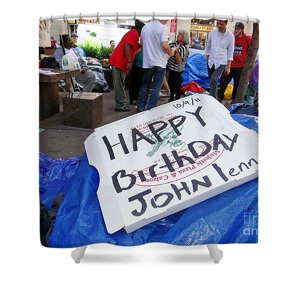 Happy Birthday John Lennon Shower Curtain by Ed Weidman