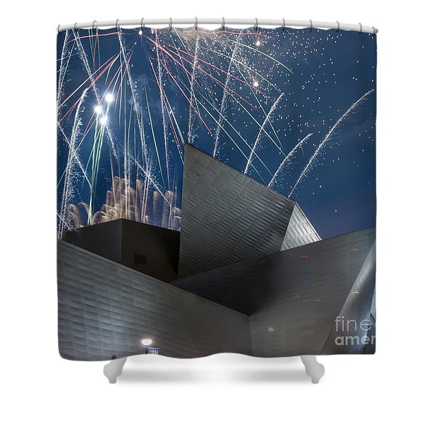 Happy Fourth Shower Curtain by Juli Scalzi