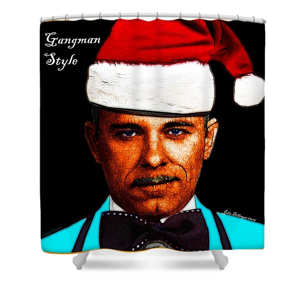 Happy Holidays Gangman Style - John Dillinger 13225 Shower Curtain by Wingsdomain Art and Photography