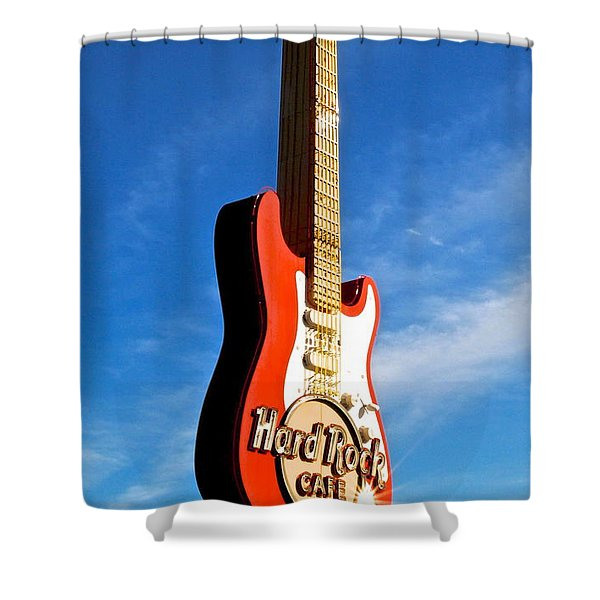 Hard Rock Cafe Cleveland Shower Curtain by Frozen in Time Fine Art Photography