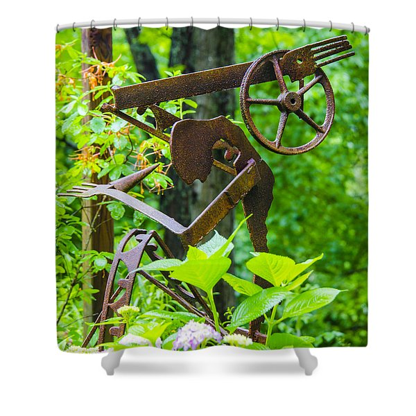 Hard Working Man Shower Curtain by Carolyn Marshall