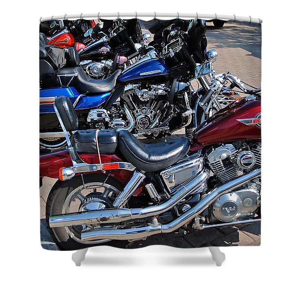 Harley Davidson Shower Curtain by Frozen in Time Fine Art Photography