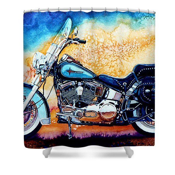 Harley Hog i Shower Curtain by Hanne Lore Koehler
