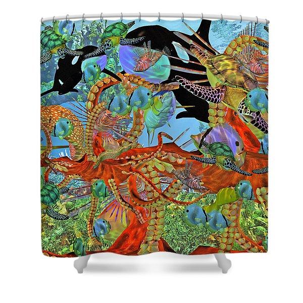Harmony Under the Sea II Shower Curtain by Betsy C  Knapp