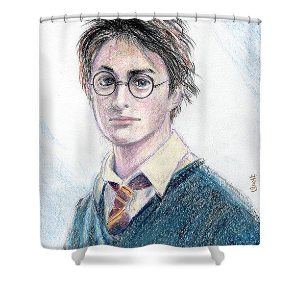 Harry Potter - Daniel Radcliffe Shower Curtain by Yoshiko Mishina