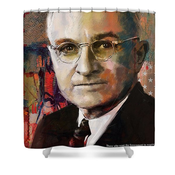 Harry S. Truman Shower Curtain by Corporate Art Task Force