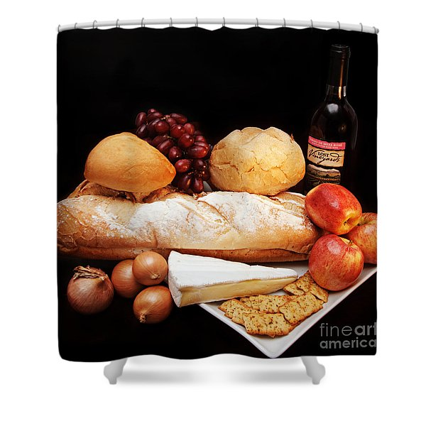 Harvest Bounty Square Shower Curtain by Andee Design