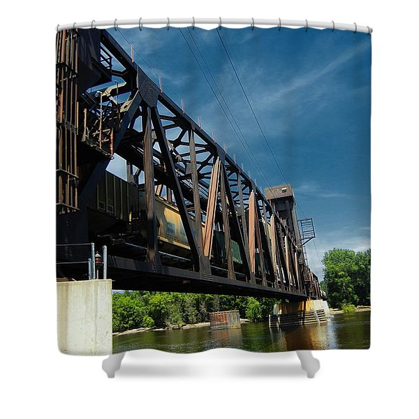 Hastings Train Bridge 2 Shower Curtain by Todd and candice Dailey