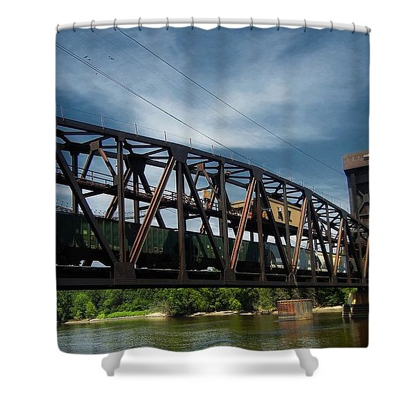 Hastings Train Bridge 3 Shower Curtain by Todd and candice Dailey
