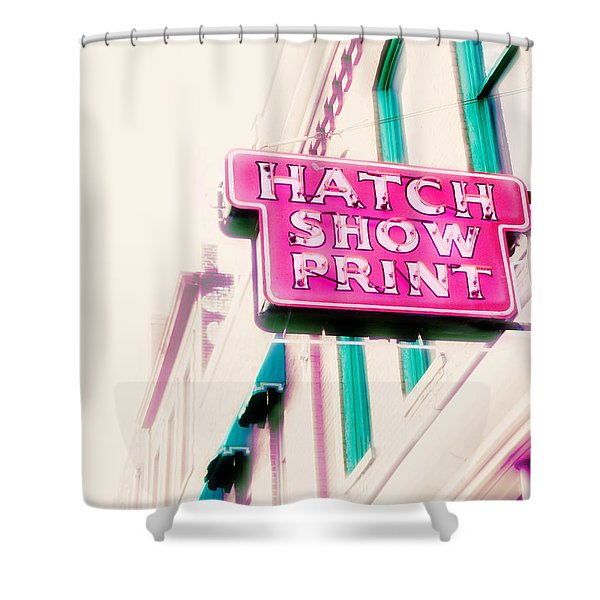 Hatch Show Print Shower Curtain by Amy Tyler