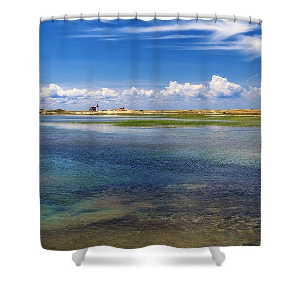 Hatches Harbor Shower Curtain by Bill  Wakeley