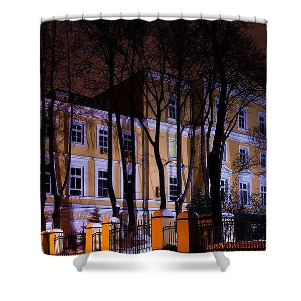 Haunted House Shower Curtain by Alexander Senin