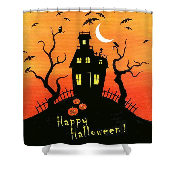 Haunted House part one Shower Curtain by Linda Mears