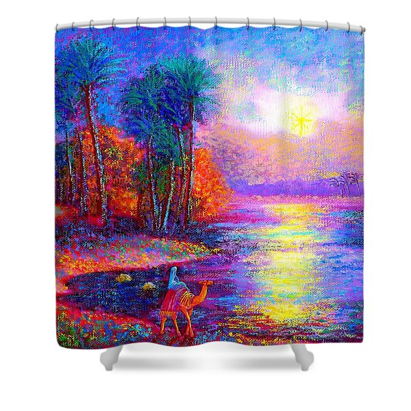 Haunting Star Shower Curtain by Jane Small