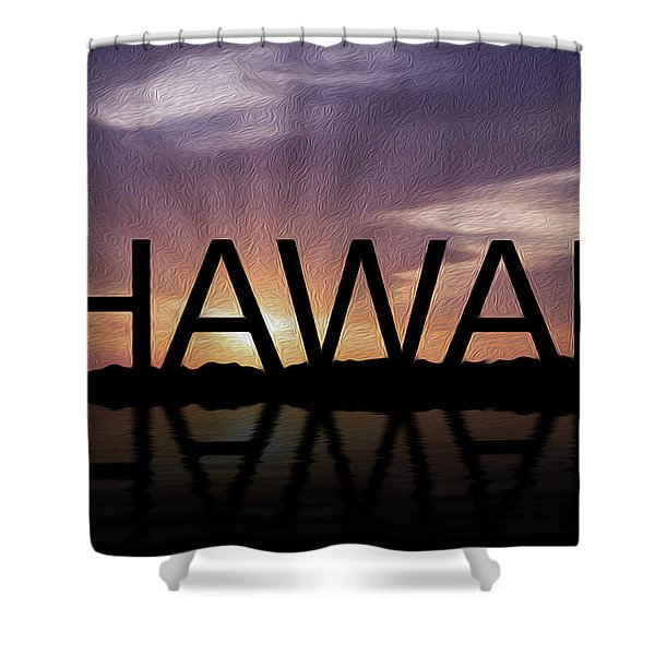 Hawaii Tropical Sunset Shower Curtain by Aged Pixel