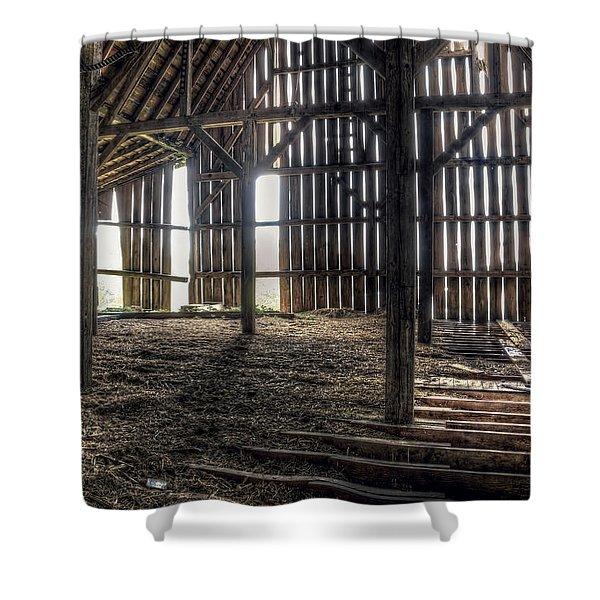 Hay Loft 2 Shower Curtain by Scott Norris