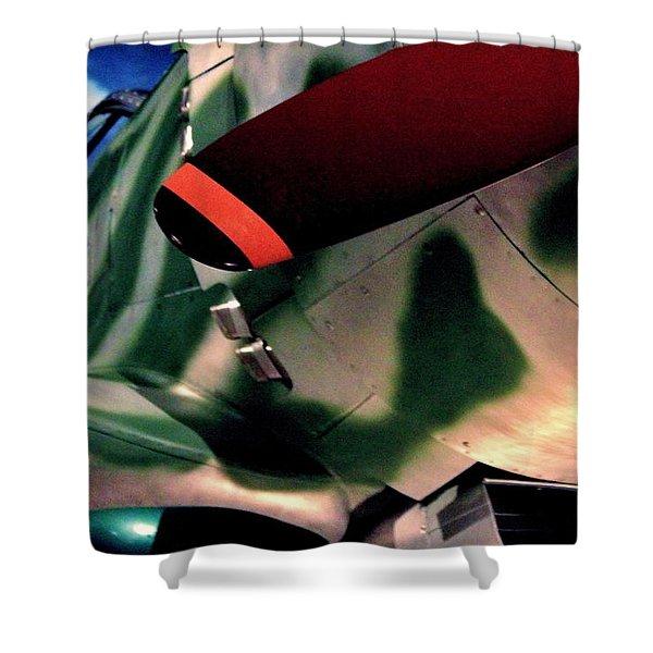 Hayabusa Shower Curtain by Benjamin Yeager