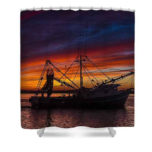 Heading Home Shower Curtain by Debra and Dave Vanderlaan