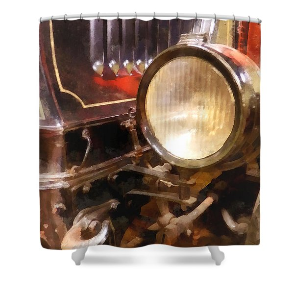 Headlight From 1917 Truck Shower Curtain by Susan Savad