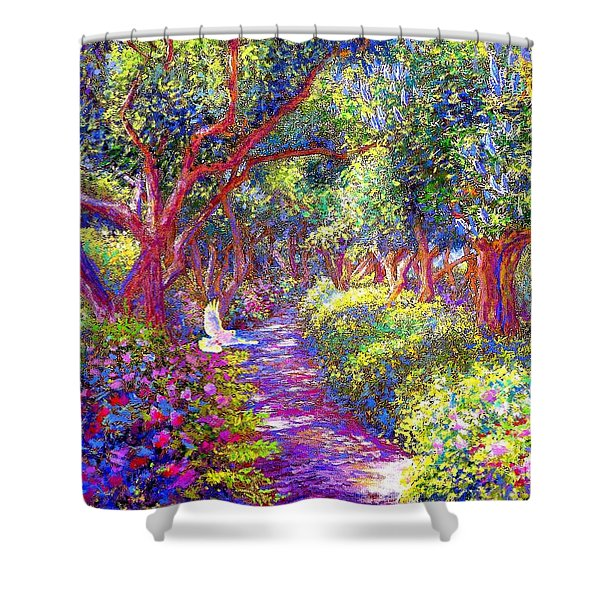 Healing Garden Shower Curtain by Jane Small