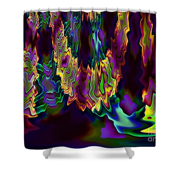 Heart Song Modern Abstract Art Shower Curtain by Annie Zeno