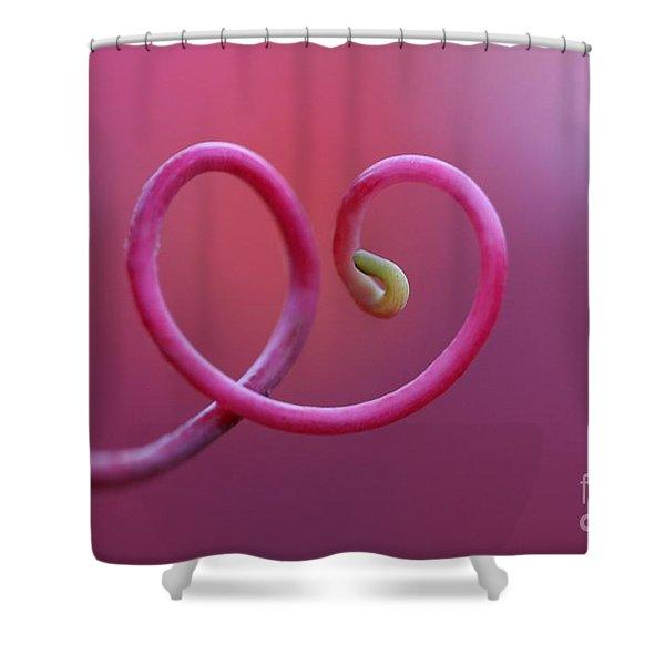 Heartfelt Shower Curtain by Maria Ismanah Schulze-Vorberg