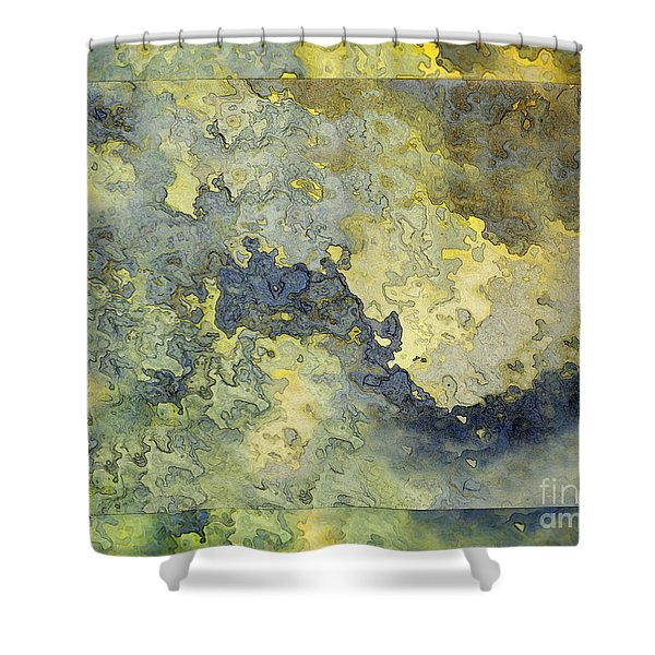 Heavenly Clouds Abstract Shower Curtain by Debbie Portwood