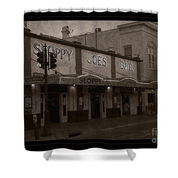 Hemingway Was Here Shower Curtain by John Stephens