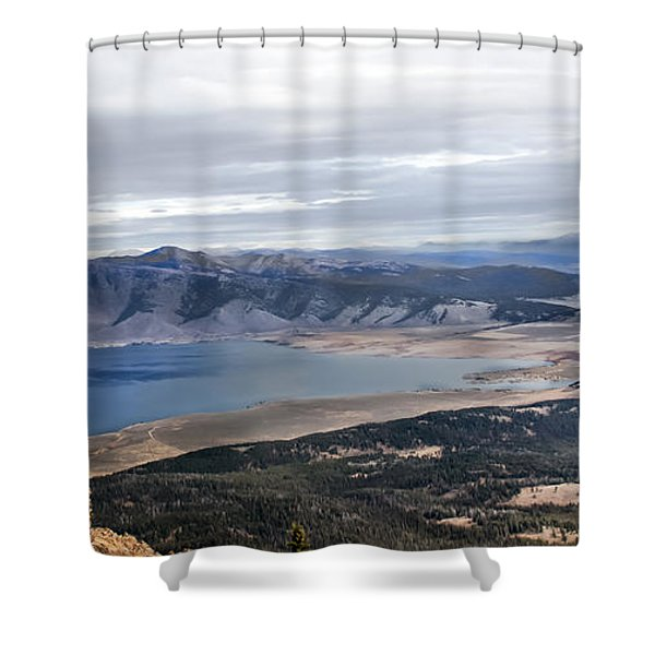 Henry Lake Shower Curtain by Robert Bales