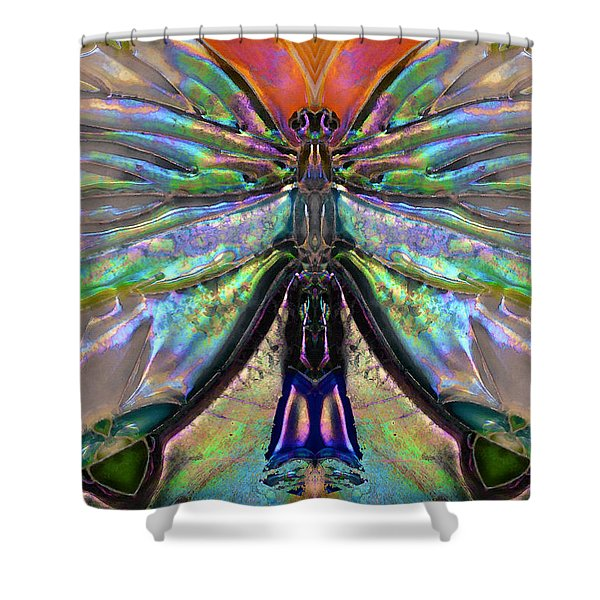 Her Heart Has Wings - Spiritual Art By Sharon Cummings Shower Curtain by Sharon Cummings