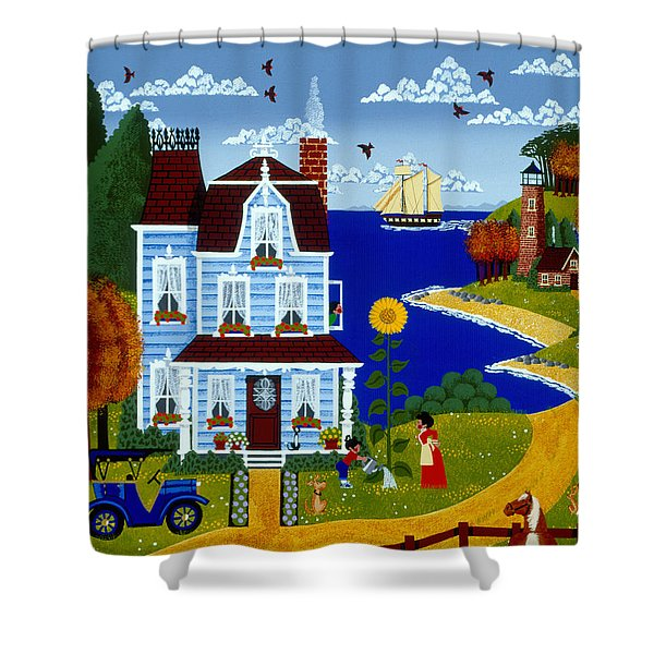 Her Pride and Joy Shower Curtain by Merry  Kohn Buvia