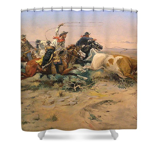 Herd Quit Shower Curtain by Charles Russell