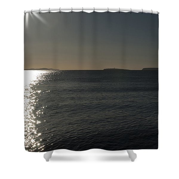Here Comes The Sun Shower Curtain by Steve Purnell