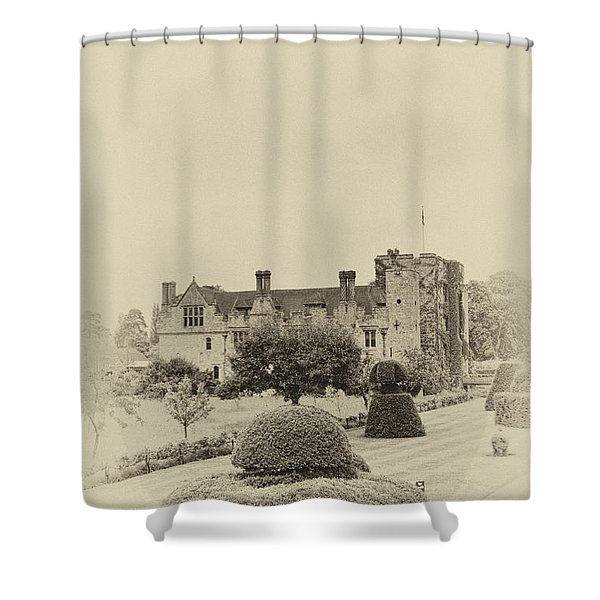 Hever Castle Yellow Plate 2 Shower Curtain by Chris Thaxter
