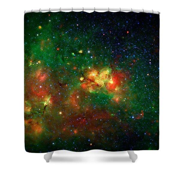 Hidden Nebula Shower Curtain by The  Vault - Jennifer Rondinelli Reilly